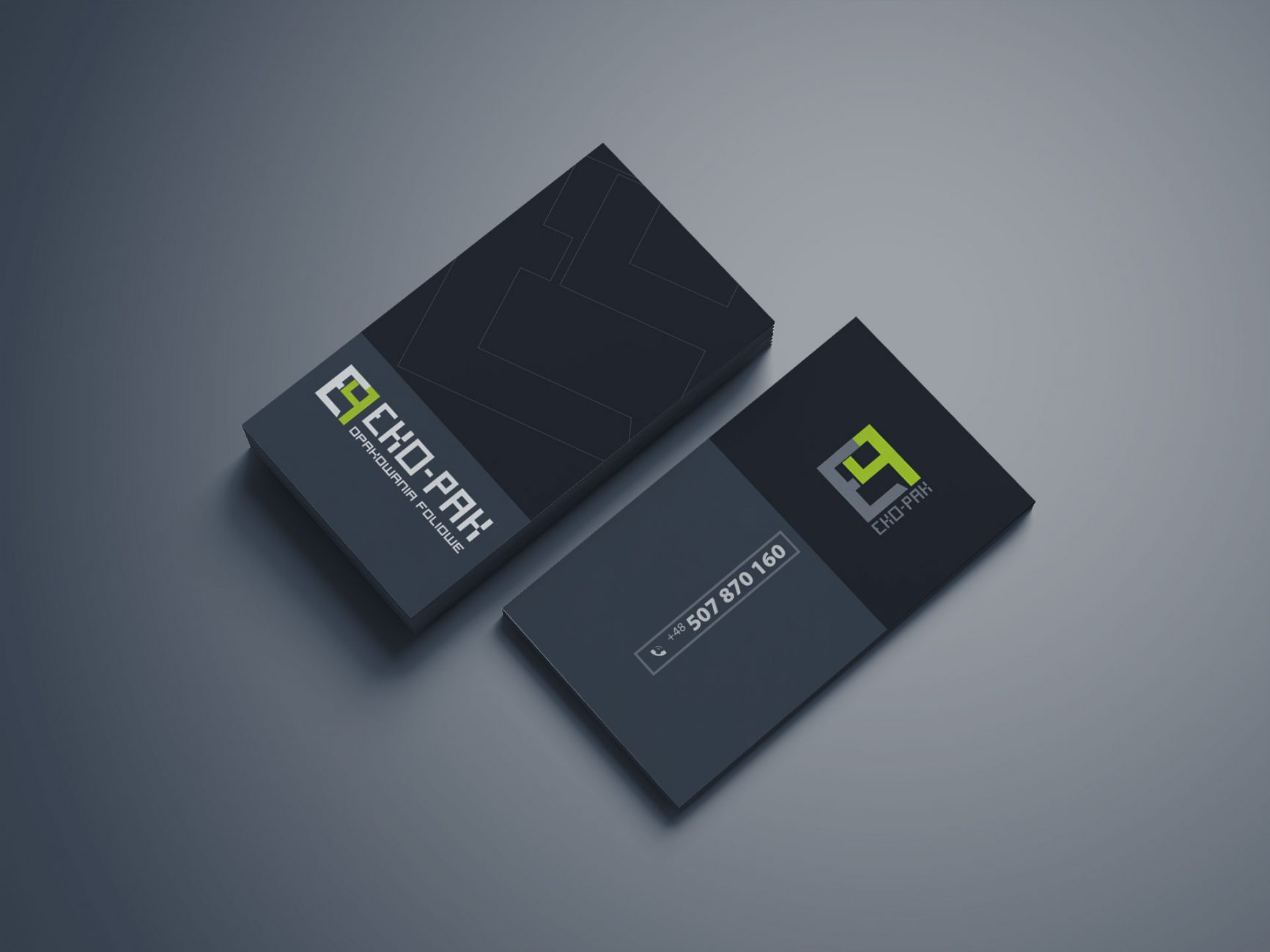 Wizytówki firmowe zaprojektowane dla firmy EKO-PAK