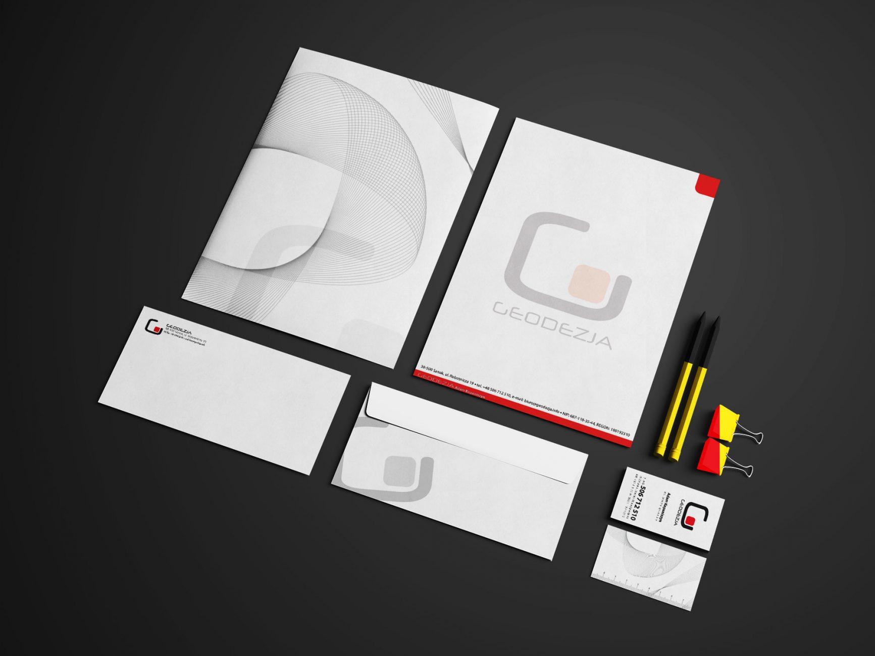 pakiet identyfikacji wizualnej firmy GEODEZJA