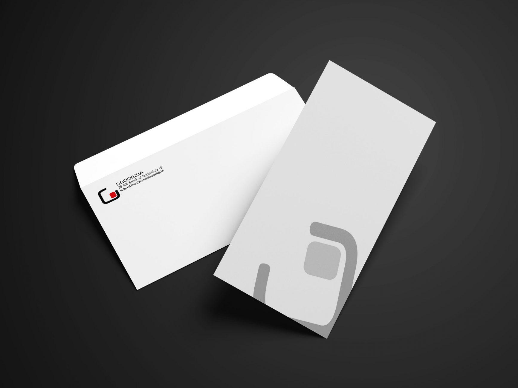 Projekt kopert listowych dla firmy GEODEZJA