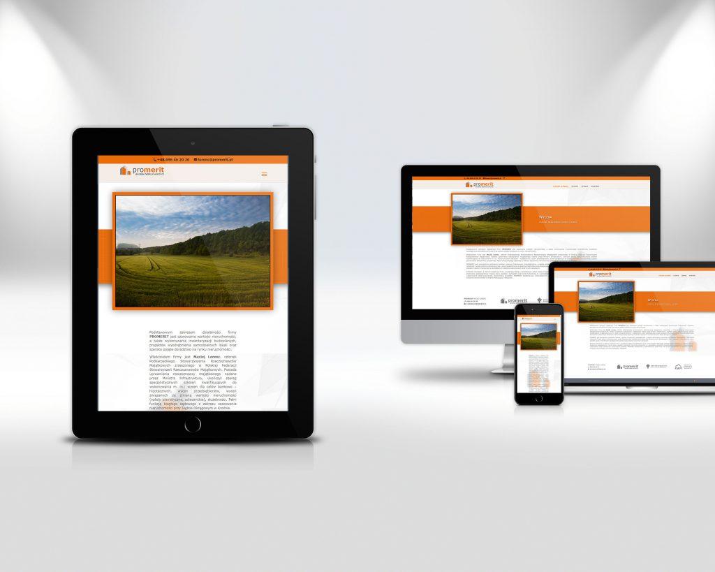 promerit.pl - prezentacja wersji na różne urządzenia