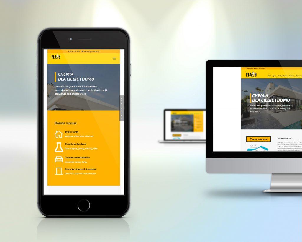 tynki.sanok.pl - wersja strony na urządzenia mobilne