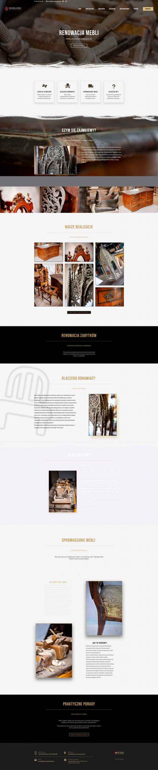 RenowacjaMebli.art, strona stworzona przez enze.pl (Piotr Kopaniszyn)